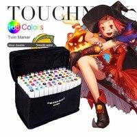 TOUCHNEW Art Sketch Marker Pen 30 40 60 80 168 Colors Dual Head For Artist Manga