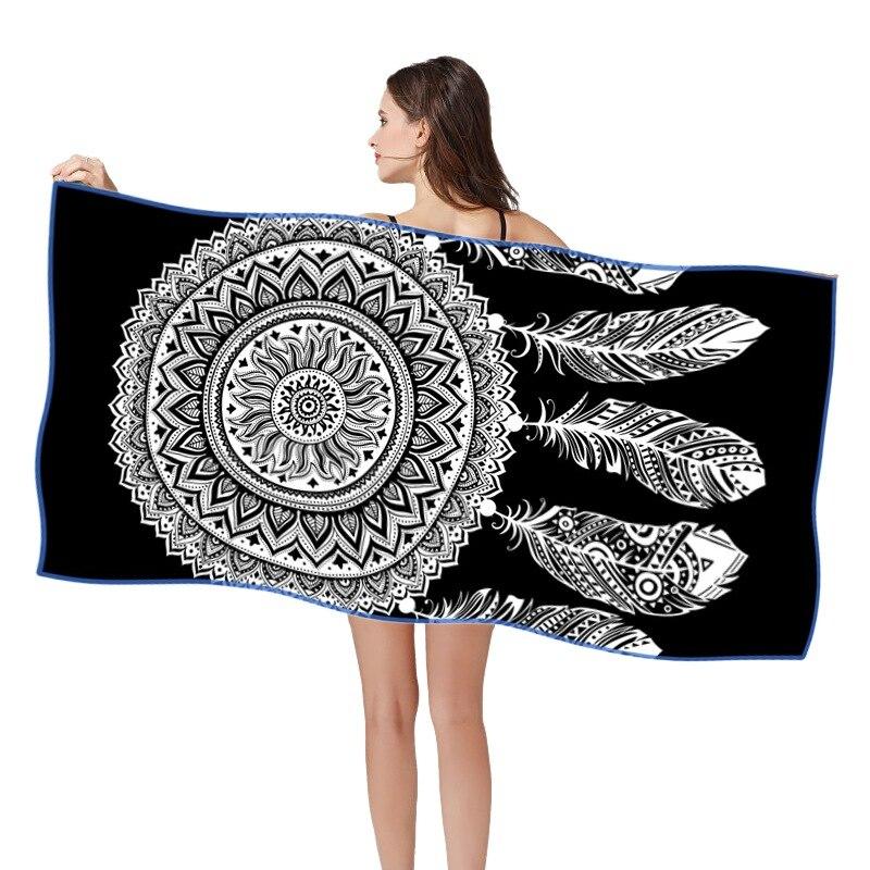 Tecido de Microfibra de Natação Toalha de Praia Série hd Impresso Quik Seco Areia Livre Multifuntion Praia Toalhas 3 160*80 cm 3d
