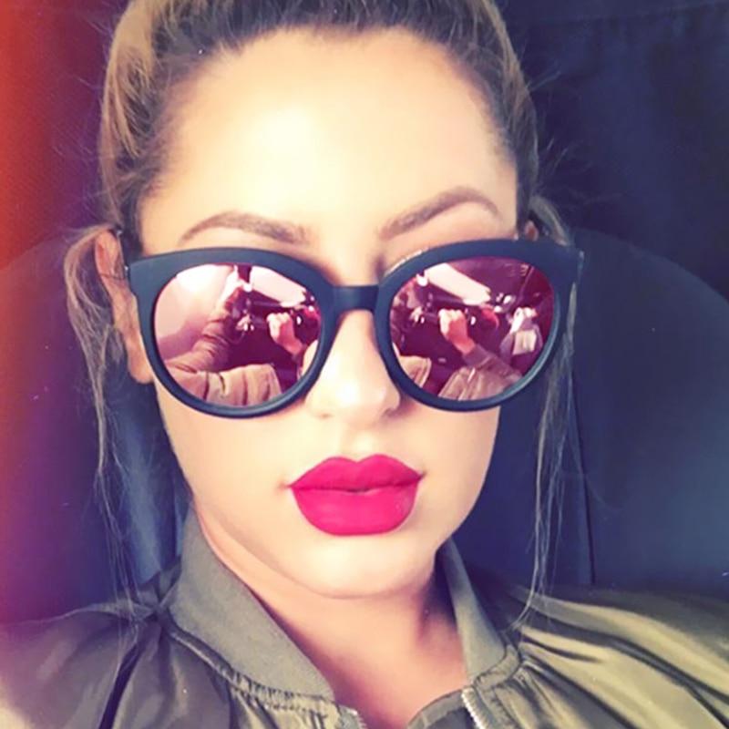 2017 New Cat Eye Brand Designer High Quality Glare Mirror Sunglasses Women UV400 Lady Sun Glasses Female Pink Cateye