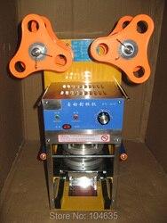 Manual Automatic Bubble Boba Tea Plastic Cup Heat Sealing Machine, Plastic Sealing Films Sealer Machine for fruit juice 95mm