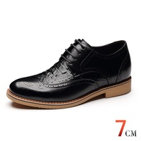 X8865 Newest Men S Height Increasing Elevator Brogue Calf Leather Oxford Shoes In Hidden Insole Grow
