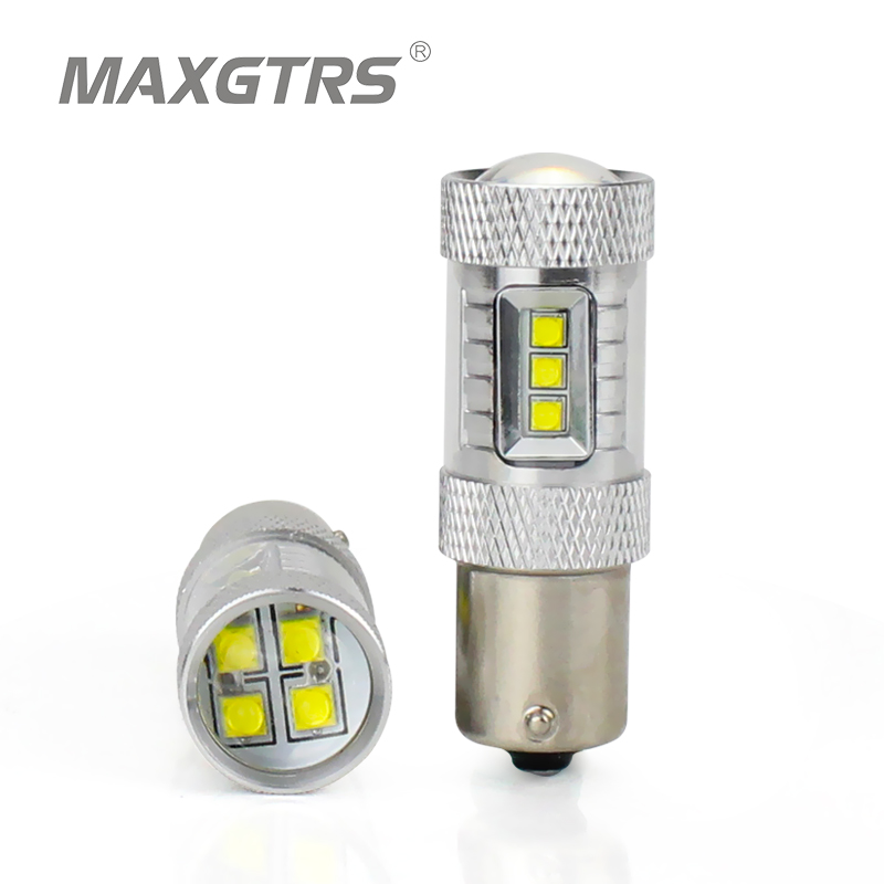 2x S25 1156 BAU15S PY21W CREE Chip 6000K LED Fog Lamp DRL Turn Signal Bulbs White Car Signal Reverse Light Tail Bulb 30W 50W 80W