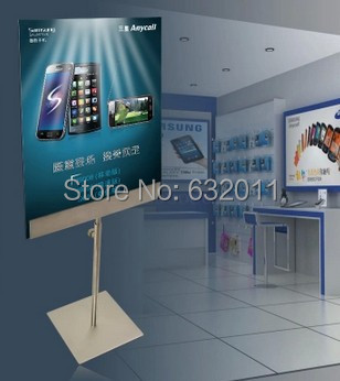Zrcadlový povrch kovový plakátový rámeček A3 A3, A4 vnitřní stolní banner, stojan, stojan, podepsat plakát, držák štítku, stojan, zobrazující stojan