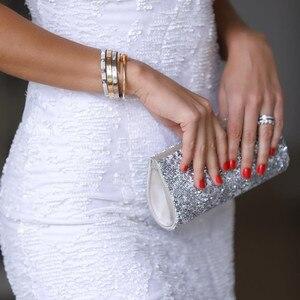 Image 3 - Bianco Con Paillettes vestido fessura Breve Abiti Da Cocktail Festa di Laurea Sexy Delle Donne Prom Abito Semi Formal Dress