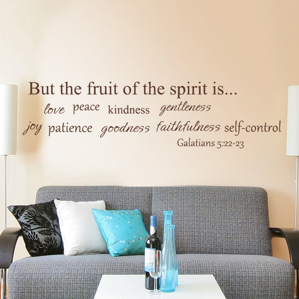 Fruit Of Spirit Wall Quote Decal Bible Wall Quote Religious Wall - Wall decals quotes bible