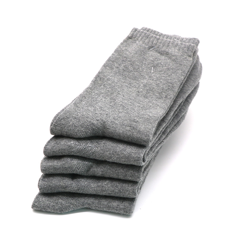 1pair Grey Socks Men Business Casual Male Ankle Sock Breathable Comfortable Socks for Mens Calcetines Meias Masculinas