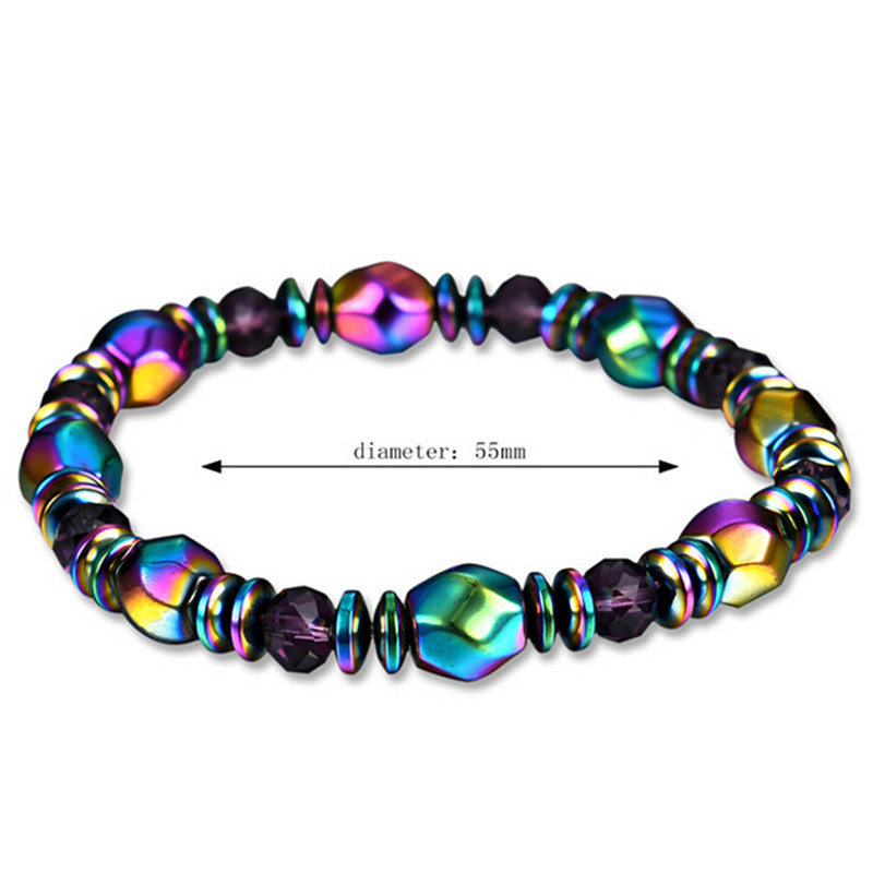 Multicolor Crystal Malachite Bracelet Healing Women Health slimming Body