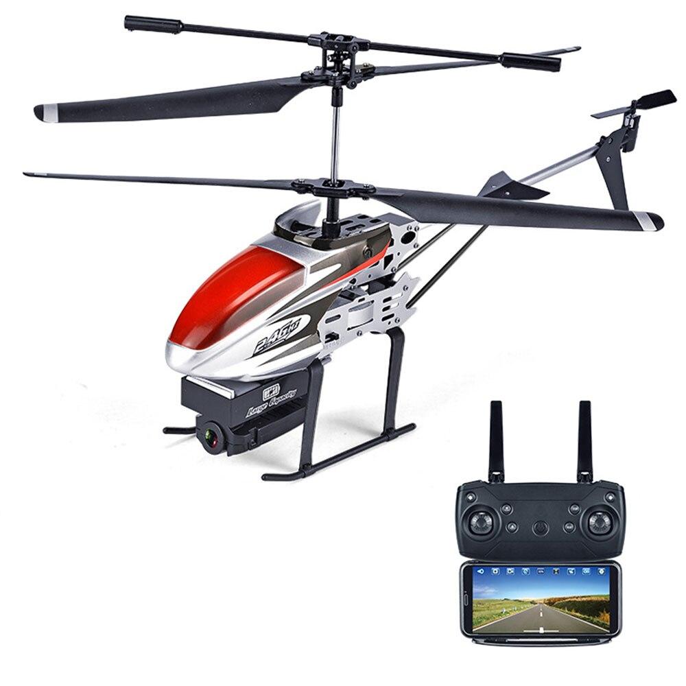 Мини 4CH 6 оси 1080 P RC самолет WI-FI стабильный Gimbal 4CH 6 оси HD 1080 P плоскости для камер плоскости Прямая вертолет - Цвет: red