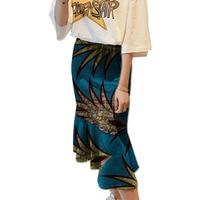 Elegant African Women Slanted Fish Tail Skirt Design Women Fashion Dashiki Element Africa Clothing Tailored Custom
