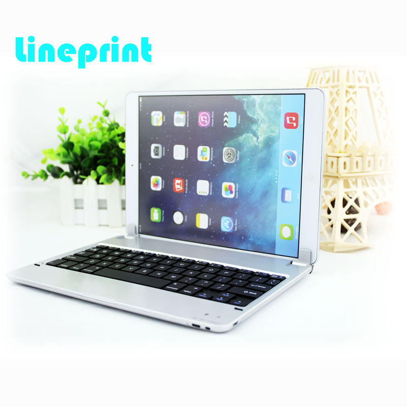 все цены на New Arrival Orginal  Bluetooth Wireless Keyboard Ultrathin ABS Aluminium Alloy Keyboard Cover Case for iPad Air2 Silver онлайн