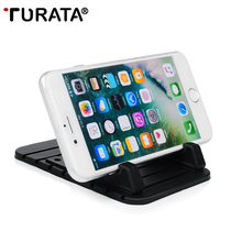 TURATA Car Phone Holder Silicone Mobile Phone Holder Mount Stand Desk Bracket Adjustable For iPhone 7 6 Plus Samsung Xiaomi GPS