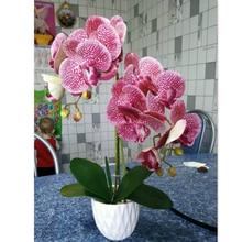 3D Kunstmatige Vlinder Orchidee Bloemen Nep Mot flor Orchidee Bloem voor Thuis Bruiloft DIY Decoratie Real Touch Home Decor Flore
