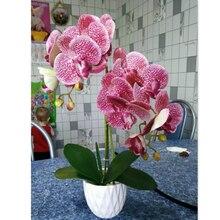 3d 인공 나비 난초 꽃 가짜 나방 flor 난초 꽃 홈 웨딩 diy 장식 진짜 터치 홈 장식 flore