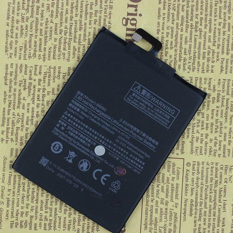 For Xiaomi BM50 5200/5300mAh Battery For Xiaomi Mi Max 2 Max2 Battery Batterie Bateria Accumulator Smart Phone