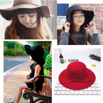 Fashion Bow Hats Baby For Girls Bucket Hat Children Sun Summer Cap Kids Solid Princess Caps