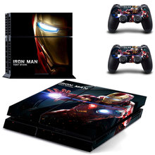 IRON MAN TONY STARK Skin Sticker Cover for Sony PS4 PlayStation 4 and 2 controller skins