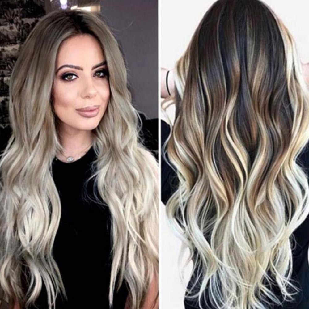 Detail Feedback Questions About Women Long Wavy Wig Sexy Gradient