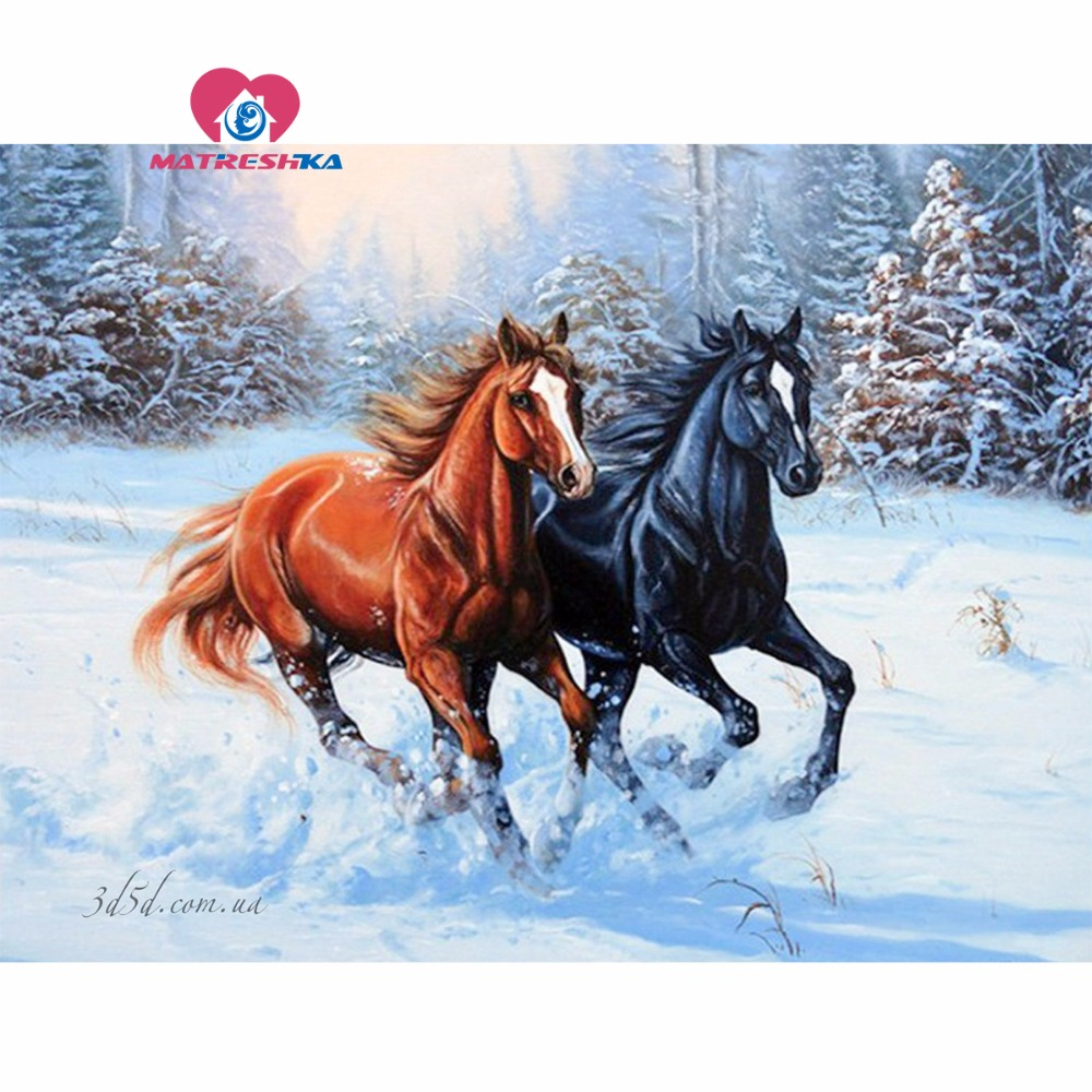 Diamond embroidery horse Diamond mosaic Pictures of crystals 5d diy diamond painting full drill resin Hobby crafts home decor