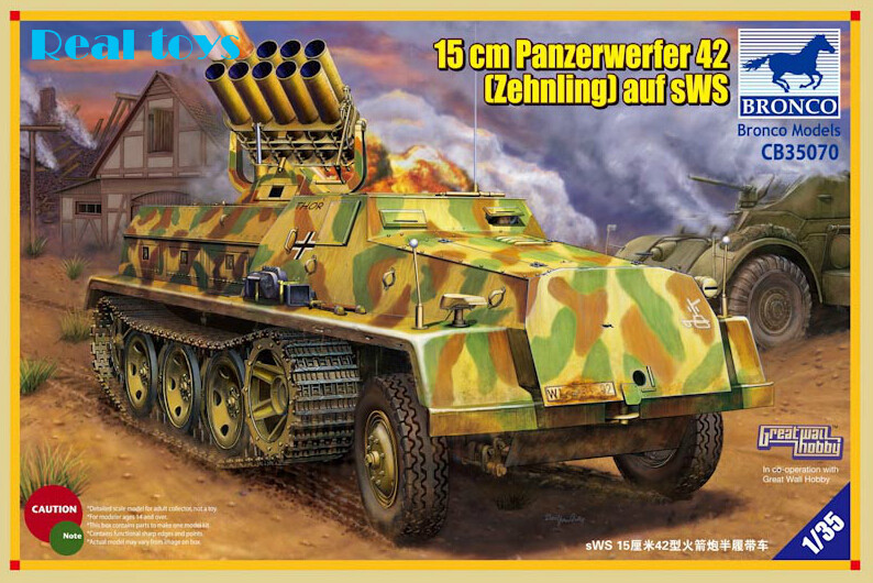 Bronco model CB35070 1/35 German sWS Panzerwerfer 42 Rocket self-propelled artillery vehicles model kit bronco model 1 35 scale military models cb35020 german land wasser schlepper lws limited edition plastic model kit