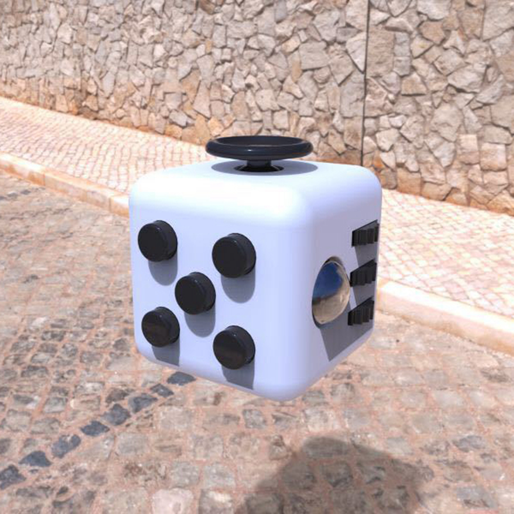 Mini Fidget Cube Toys for Puzzles & Magic Gift AntiStress Stress Reliever Click Glide Flip Spin Breathe Roll With Box