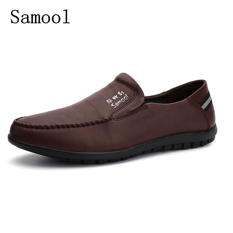 High Quality Genuine Leather Men Shoes Soft Moccasins Loafers Fashion Brand Men Flats Comfy Light Driving Shoes Big Size 36-47  2017 brand fashion big size 39 44 men loafers high quality men full grain leather shoes luxury soft leather casual men flats