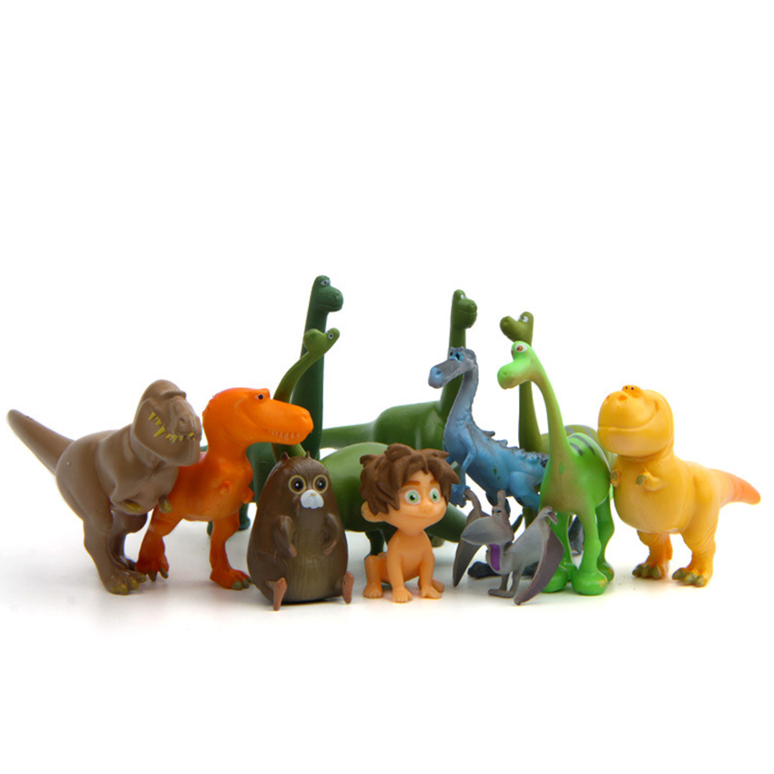 12pcs/set 3-6cm Movie The Good Dinosaur figure Arlo Spot Henry Butch figure set pvc action toys gift for child Cake decoration игрушка good dinosaur 62006