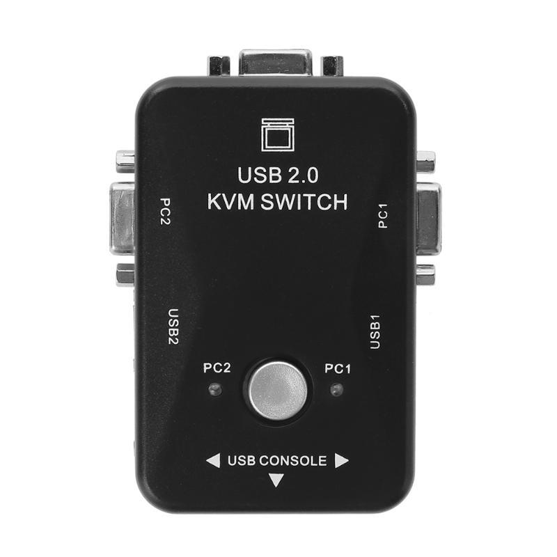 Kvm-switches Computer-peripheriegeräte Genial Alloyseed Hohe Qualität Usb 2.0 Kvm-switch Switcher 1920*1440 2 Port Vga Switch Splitter Box Für Tastatur Maus Monitor Adap