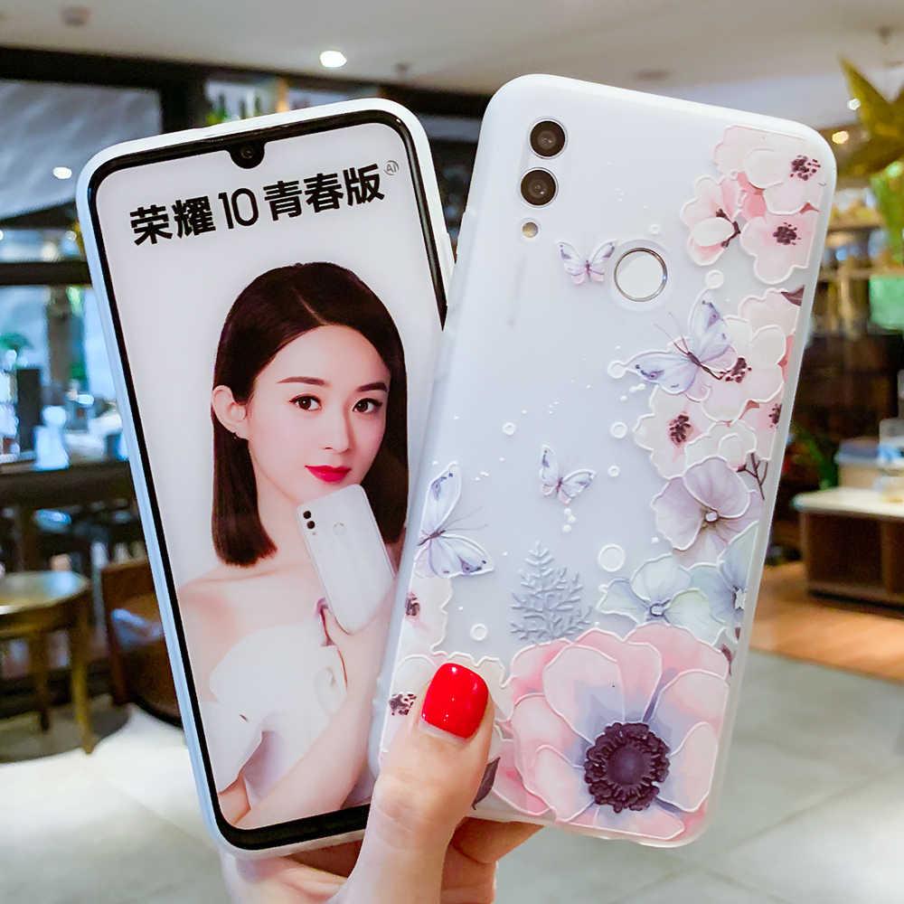 Kılıf için Huawei P30 P20 P10 P9 P8 Mate 20 10 Lite Pro P akıllı 2019 onur 9 10 Lite 6X 7X Nova 2i artı 3E 3D kabartma TPU kapak