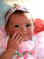 22 дюйм(ов) 55 см Прекрасный Reborn Кукла Мягкая Силиконовая Винил Bebe Реалистичная Reborn для маленьких девочек куклы малыша игрушка