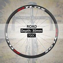 Hand-built 700C road clincher 30mm depth carbon wheels - WRC-30