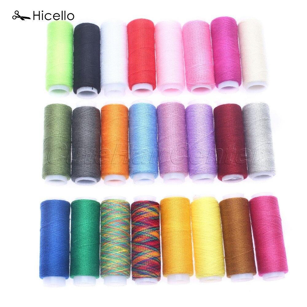 Hicello 24x Set Katun Gulungan Benang Aneka Warna Jahit Lotus E Elegant Biru Pohon Tirai Pintu Magnet Anti Nyamuk Thread Kumparan Tangan Mesin Decor Kerajinan Pakaian Dress Membuat Alat