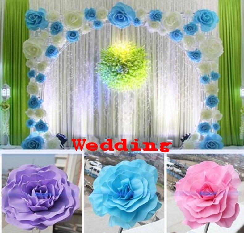 "Wedding Stage Flower Decoration: 30CM (12"") Big Foam Rose Flower For Wedding Stage"