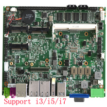Embedded motherboard 4Gb ram Intel core i5-3337U processor with VGA HDMI 6USB industrial ITX motherboard