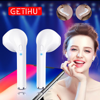 GETIHU Bluetooth Earphone Phone Sport Headset In Ear Buds Wireless Headphones Mini Earphones Earpiece For IPhone