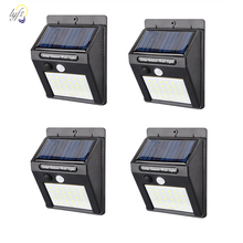 4pcs/lot 20/30/48LEDs Waterproof Solar Light PIR Motion Sensor Wall Lamp Outdoor Garden Energy Saving