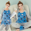 Hot Pregnant Womens Pajamas Sets Summer Cartoon Maternity Pajamas for Pregnancy Women Pijama Para Breast Feeding Nursing Clothes