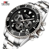 Hot Tevise Brand Men Quartz Watch Men's Watches Top Brand Luxury Sport Stainless Steel Clock Male Relogio masculino 2018 New