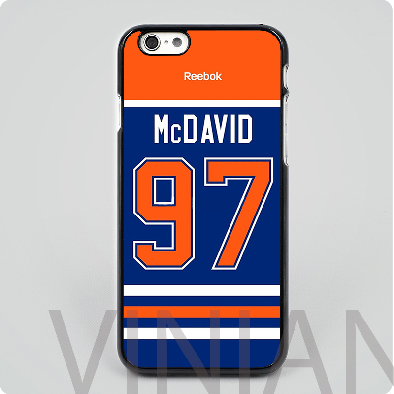 newest f4c27 b380e Edmonton Oilers Connor McDavid Jersey Back black Hard skin ...