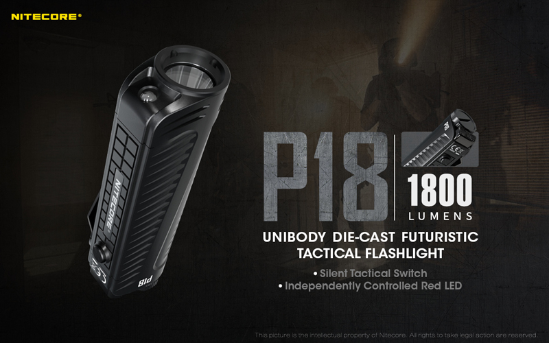 1800 Lumens Nitecore P18 Tactical Flashlight (2)