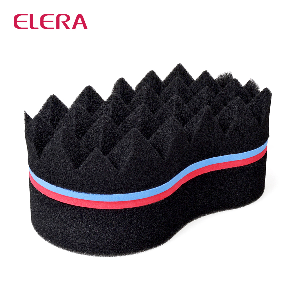 ELERA Double Sides Magic Twist Hair Sponge Brush,adds texture to hair styling tools hair ...
