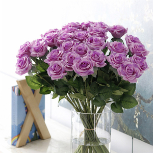 Image 3 - 25pcs/lot New Artificial Flowers Rose Peony Flower Home Decoration Wedding Bridal Bouquet Flower High Quality 9 Colors