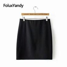 Stretched Skinny Skirts Office Lady Plus Size XXXL 5XL Women Mini Pencil Skirt Black KKFY3087