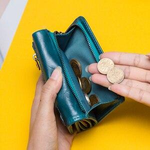Image 5 - 連絡の女性財布クラッチコイン財布女性レザー本革ショート財布ジッパーカードホルダーマネーバッグ女の子