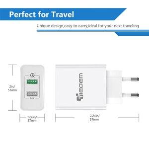 Image 5 - TIEGEM 30 watt Quick Charge 3,0 USB Wand Ladegerät Adapter EU US Stecker Universal Reise Ladegerät Handy Ladegerät für samsung iphone