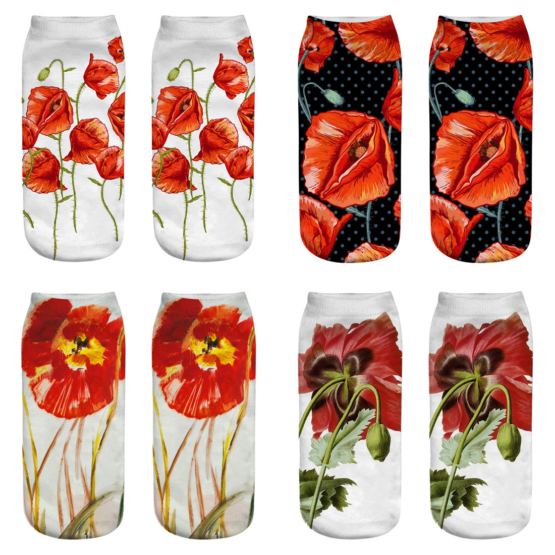 RUNNING CHICK New Poppy 3d Printed Socks 2018 New Fashion