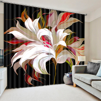 Photo Customize size  2016 Fashion 3D Home Decor Beautiful Bedding room 3D Curtains flower