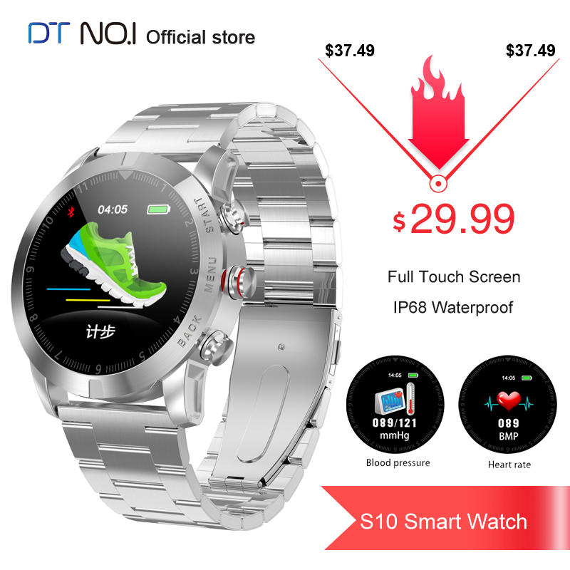 <font><b>DT</b></font> NO.1 <font><b>S10</b></font> Full Touch Screen <font><b>Smart</b></font> <font><b>Watch</b></font> Detachable Design Wristband Large Battery Caller ID Display Sport <font><b>Smart</b></font> <font><b>Watch</b></font> Bracelet image