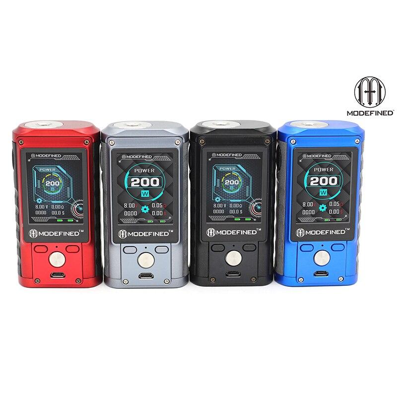 New arrival Original Lost Vape Modefined Draco 200W Box Mod color screen dual 18650 vape vaporizer VS Smoant Charon Mini