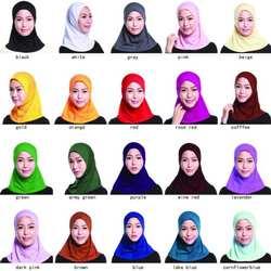 16 цветной хиджаб простой мусульманский головной платок внутренние шапочки под хиджаб обертывания женские исламские под мини шарф