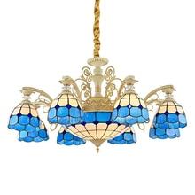 Tiffany Dekorative Farbige Glas Kronleuchter balkon hängen Tiffany lampen Hotel Restaurant persönlichkeit kronleuchter wohnzimmer